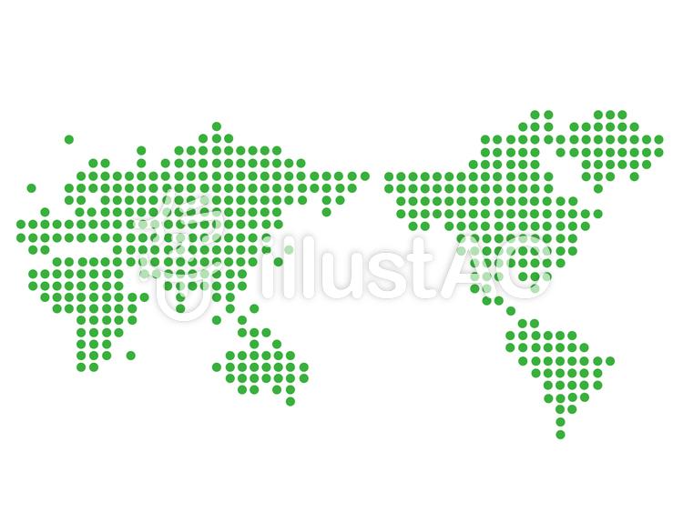 ドットの世界地図イラスト No 377453無料イラストならイラストac