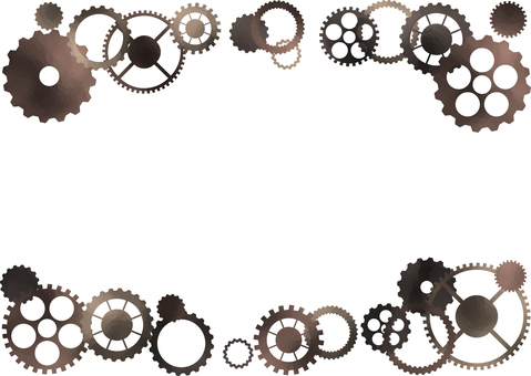 紫色齒輪框架圖
