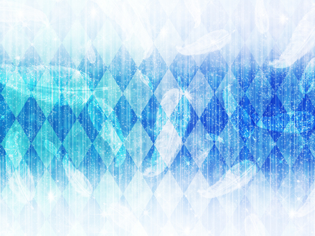 Diamond pattern and feather blue background