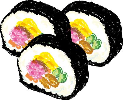 Ehomaki Round Sushi Sushi Session Illustration Handwriting Picture