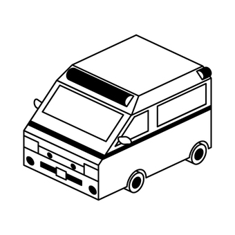 Ambulance monochrome