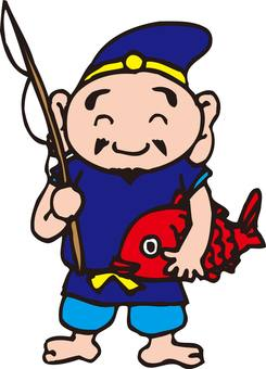 Having fisherman Ebisu