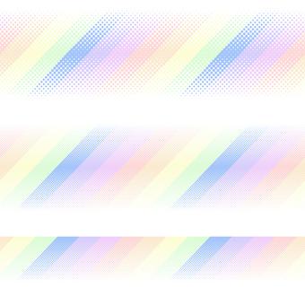 ドットグラデーション8・虹