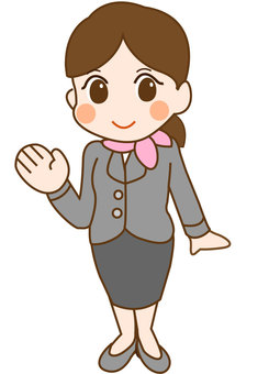 Receptionist woman