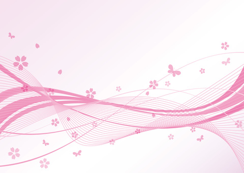 곡선 배경 핑크 봄