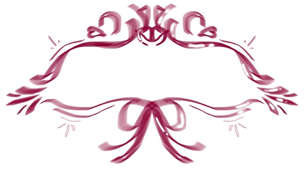 Transparent ribbon frame (red)