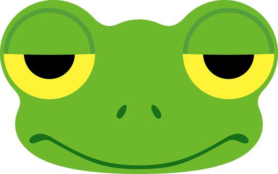 Frog face sleepy