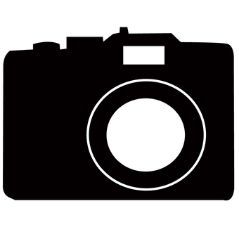 Black and white icon of the camera