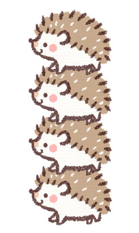 Hedgehog stacked