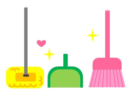 Colorful cleaning goods