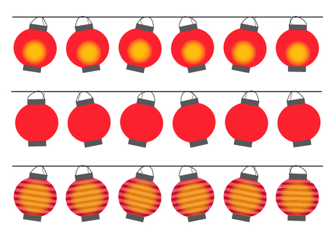 Lined lanterns