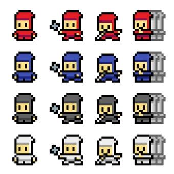 Pixel art Ninja 2 16x16