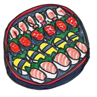 Hors d 'oeuvre sushi