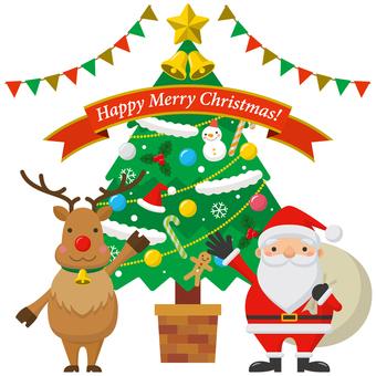 Santa and reindeer - 02