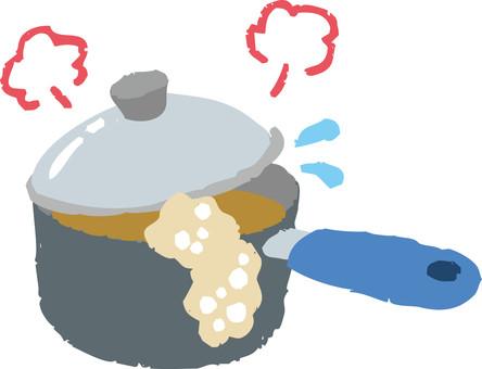 One-handed pan (spilling sprayer)