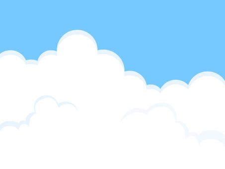 Cloud sky blue sky
