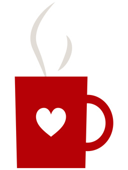 Coffee in a red mug cup 2
