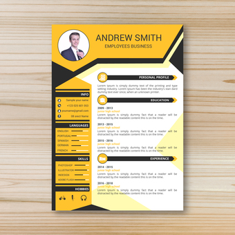 Business template resume 3