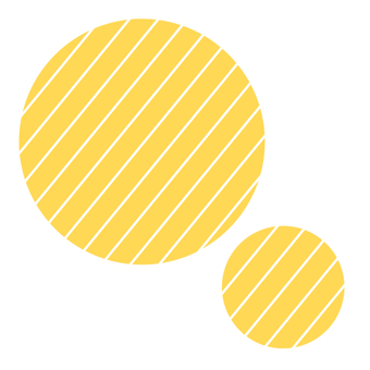 Striped circle yellow