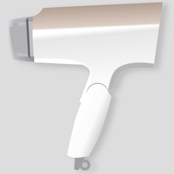 White styling hair dryer