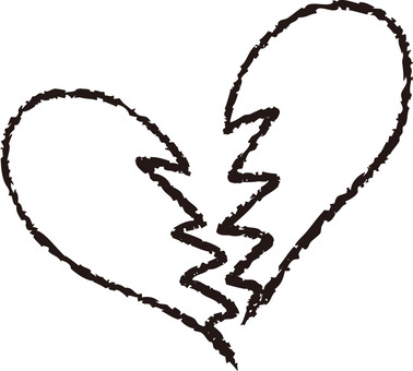 Heart (broken heart / black)