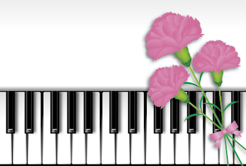 Piano and Carnation 3