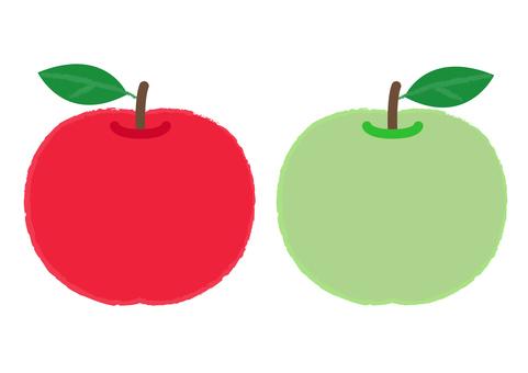 apple_赤りんご&青りんご