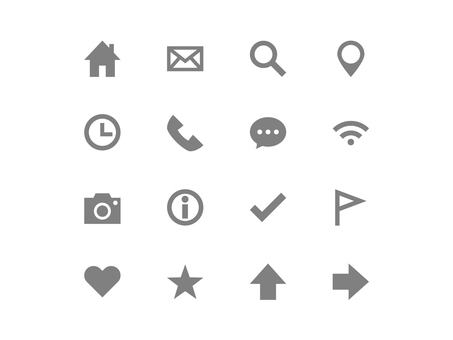 Basic icon set (gray) 1
