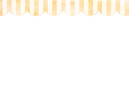Watercolor stripe frame 1 Orange