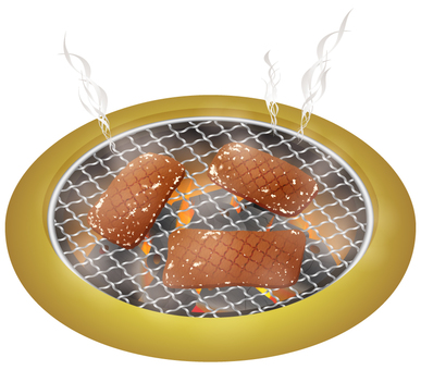 Grilled grilled meat _ smoke