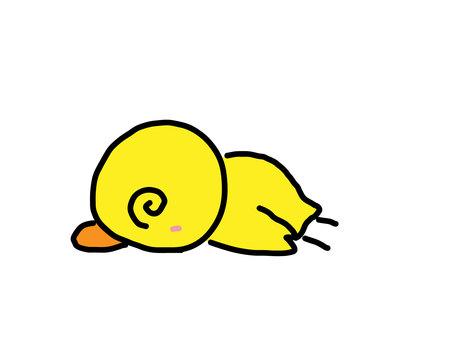 Chick falls