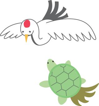 【Animals】 Crane and tortoise