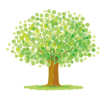 큰 녹색 나무