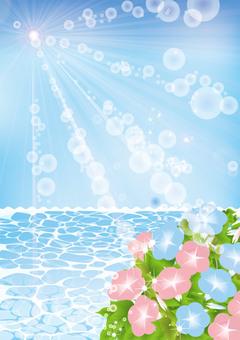 Blue sea and sky asakao 1