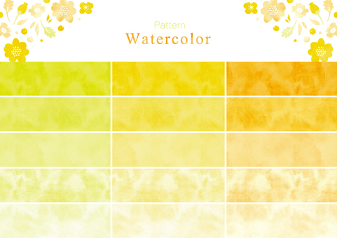 Watercolor pattern swatch part 5 yellow