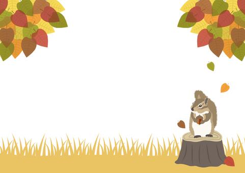 가을의 가로 배경 소재 1