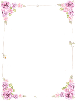 Stationery 4 - Luxurious rose letter pad
