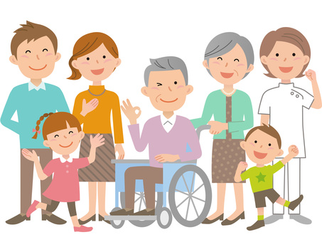 61013. Wheelchair, Family and Caregiver 2