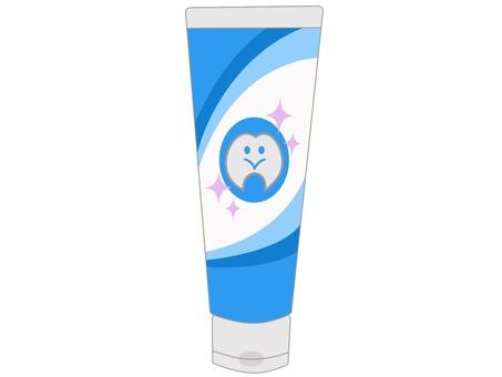 Toothpaste blue