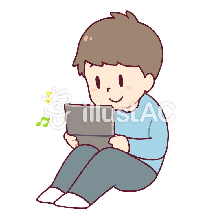 ゲームをする男の子イラスト No 517810無料イラストならイラストac