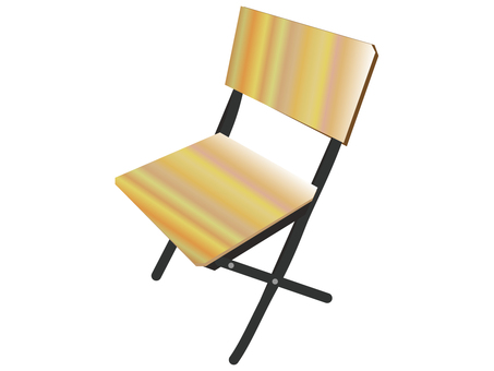 Folding chair (handmade style)