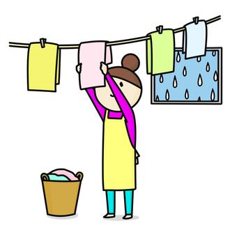 Laundry room drying rain