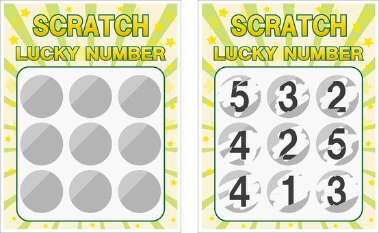 Scratch lottery green system