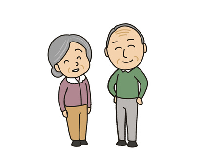 Elderly couple with a smile
