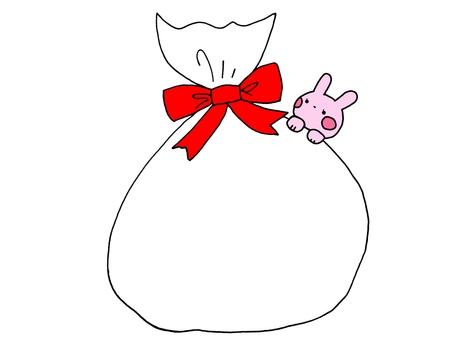 プレゼント袋とウサギ 1の2