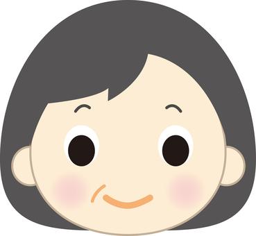 Older female face