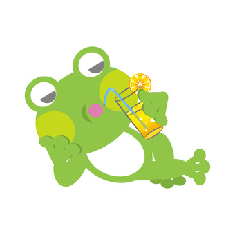 Frog (linger and drink lemonade)