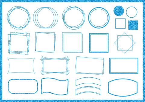 Blue frame set