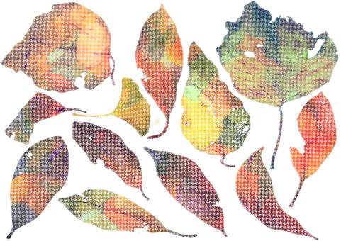 Worm-eaten dead leaves