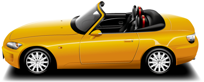 Automobile (open car · yellow)